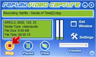 Replay Video Capture - Stop