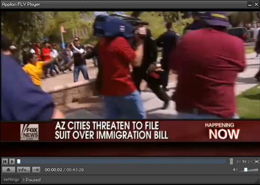 Recorded FoxNews.com video playing in Applian FLV player