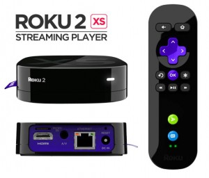 Roku 2 XS Wi-Fi Streaming Media Player with Remote
